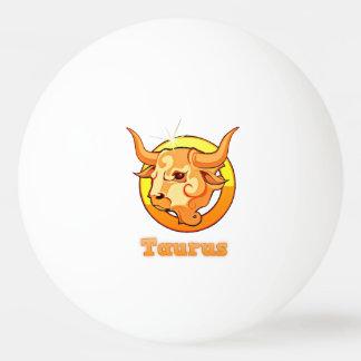 Taurus illustration ping pong ball
