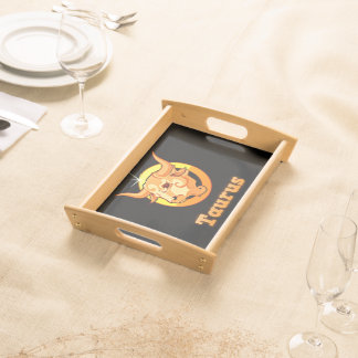Taurus illustration serving tray