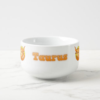 Taurus illustration soup mug