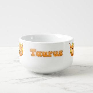 Taurus illustration soup mug