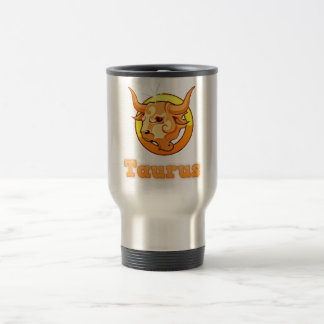 Taurus illustration travel mug