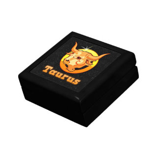 Taurus illustration trinket boxes