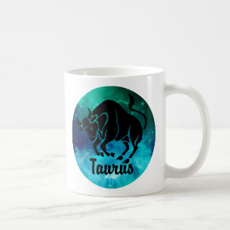 Taurus On Space Background Coffee Mug