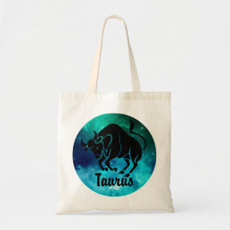 Taurus On Space Background Tote Bag