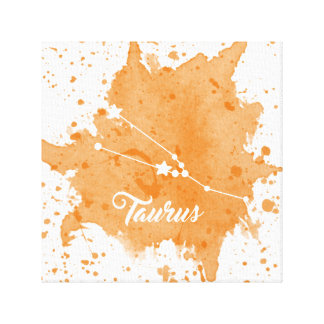 Taurus Orange Wall Art