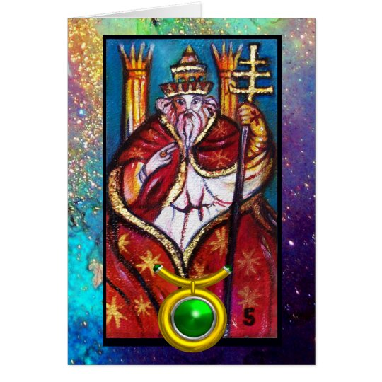 TAURUS,POPE HIEROPHANT TAROT ZODIAC BIRTHDAY CARD