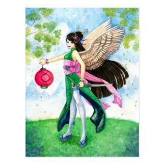 Taurus Postcard, Geisha Zodiac Fine Art Print