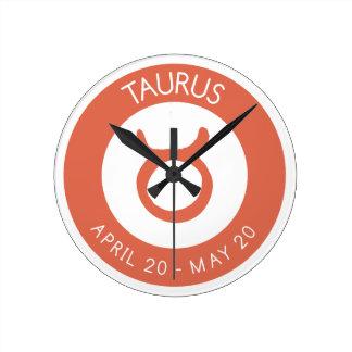 Taurus Round Clock