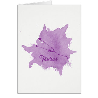 Taurus Star Sign Birthday Card