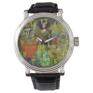 Taurus Surreal Fantasy Steampunk Astrology Watch