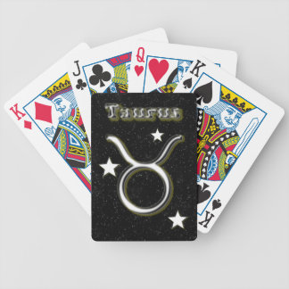 Taurus symbol bicycle playing cards