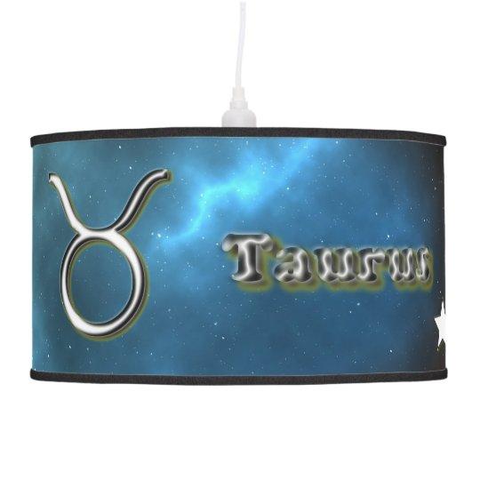 Taurus symbol hanging pendant lamp