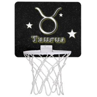 Taurus symbol mini basketball hoop