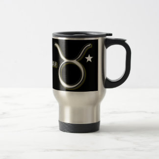 Taurus symbol travel mug