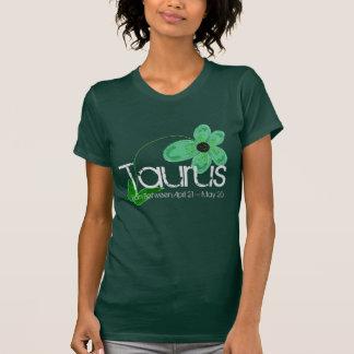 Taurus Tee-shirt With Emerald Green Flower T-Shirt