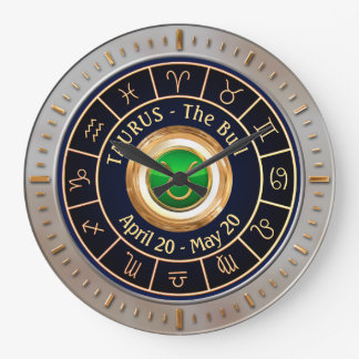 Taurus - The Bull Astrological Sign Large Clock