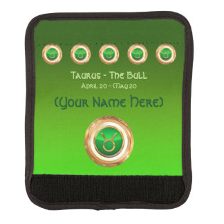 Taurus - The Bull Astrological Sign Luggage Handle Wrap
