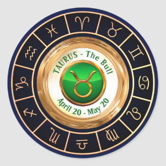 Taurus - The Bull Astrological Symbol Classic Round Sticker