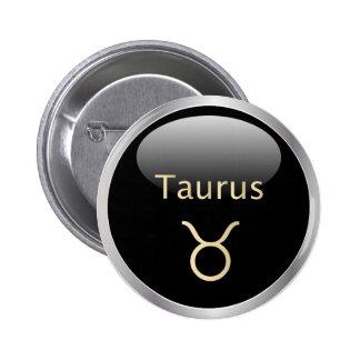 Taurus the bull astrology star sign, zodiac button