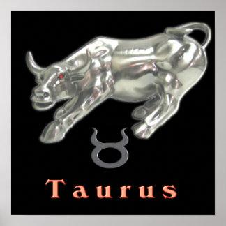 Taurus the bull poster