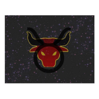 Taurus the Bull Star tSign Postcard