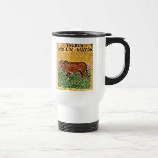 TAURUS THE BULL TRAVEL MUG