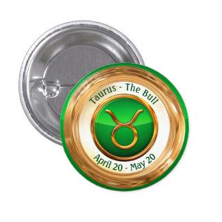 Taurus - The Bull Zodiac Sign 1 Inch Round Button