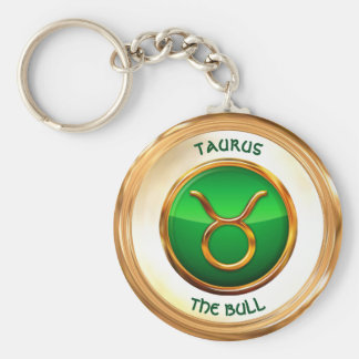 Taurus - The Bull Zodiac Sign Basic Round Button Keychain