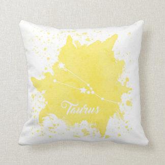 Taurus Yellow Pillow