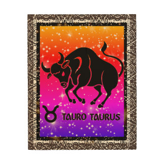 Taurus Zodiac Astrology Wood Wall Art