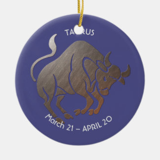 TAURUS Zodiac Ceramic Ornament