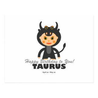Taurus Zodiac for Kids Postcard