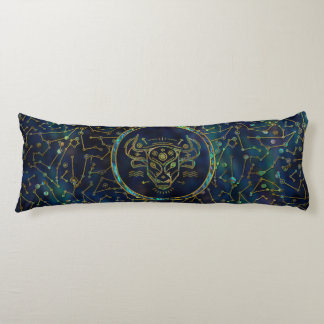 Taurus Zodiac Gold Abalone on Constellation Body Pillow