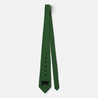Taurus Zodiac Sign and Name Green Tie