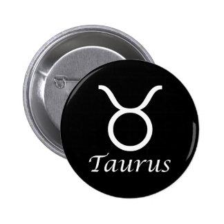 'Taurus' Zodiac Sign Pins