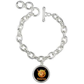 Taurus zodiac sign charm bracelets