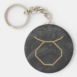 Taurus Zodiac Sign | Custom Background Keychain