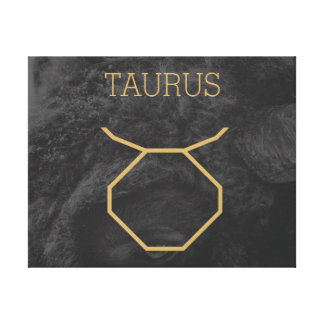 Taurus Zodiac Sign | Custom Background + Text