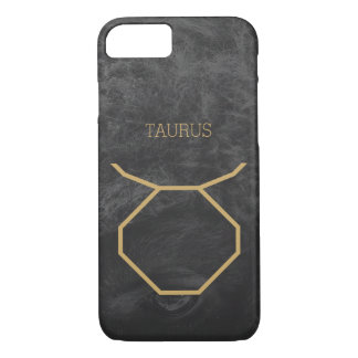 Taurus Zodiac Sign | Custom Background + Text iPhone 7 Case