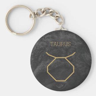 Taurus Zodiac Sign | Custom Background + Text Keychain