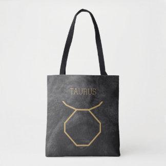 Taurus Zodiac Sign | Custom Background + Text Tote Bag