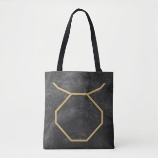 Taurus Zodiac Sign | Custom Background Tote Bag