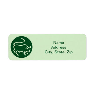 Taurus Zodiac Sign Return Address Label