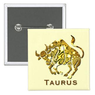 Taurus Zodiac Square Pin