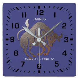 TAURUS Zodiac Square Wall Clock