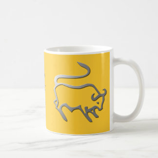 Taurus Zodiac Star Sign In Light Silver Coffee Mug