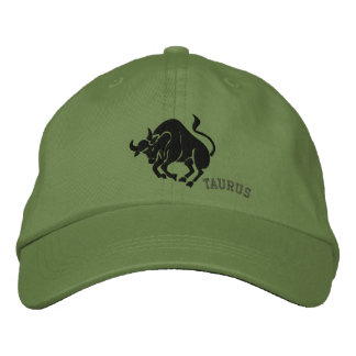 Taurus Zodiac Symbol Embroidery Embroidered Hat