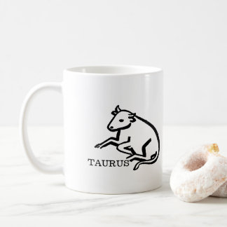 Taurus Zodiac Vintage Bull Horoscope Coffee Mug