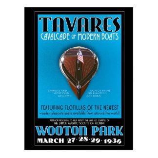 Tavares Cavalcade of Modern Boats post card
