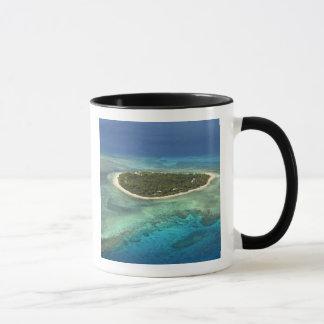 Tavarua Island and coral reef, Mamanuca Islands Mug